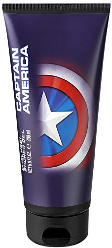 Captain America Duschgel im coolen Design für Jungen, 1er Pack, 200ml