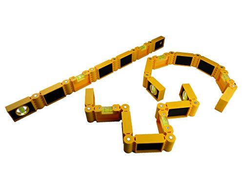 Biegsame Wasserwaage Flexxi Snake®, gelb, Eckwasserwaage, multifunktional, intelligent
