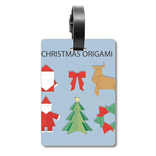 Etiqueta de identificación para Maleta, diseño de Origami, Color Rojo