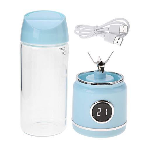 Yivibe Exprimidor eléctrico, no tóxico, Seguro, portátil, Afilado, Resistente y licuadora eléctrica, Recargable por USB para el hogar y la Oficina de Deportes, automóvil