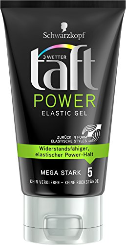 Schwarzkopf 3 Wetter Taft Power Gel, Elastic Mega Starker Halt 5, 5er Pack (5 x 150 ml)