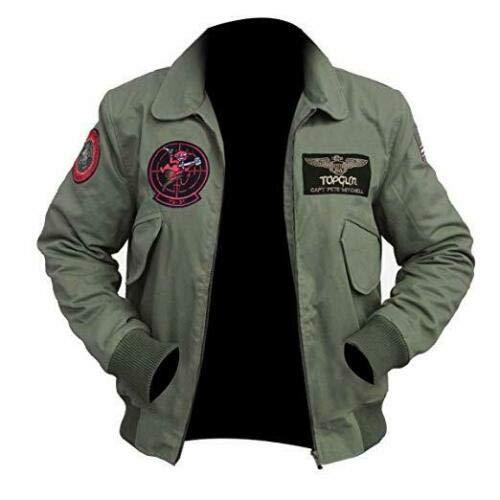 Tom Cruise Top Gun 2 Maverick MA-1 Flight Bomber Veste écusson - Gris - Small