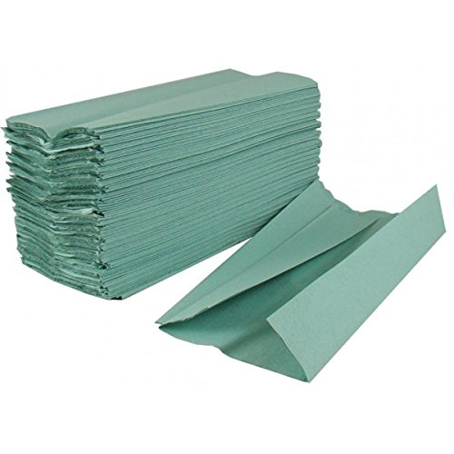2Work KF03801 Green 1-Ply C-Fold Hand Towel (Pack of 2880) HC128GRVW
