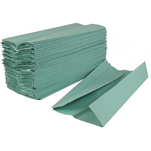 Salviette di carta a 1 velo 2work, colore verde (confezione da 2.955)