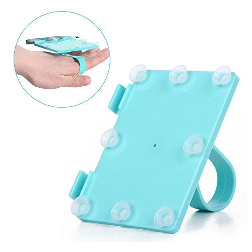 Palette de maquillage professionnelle pour extensions de cils Base Cils Colle Couleur Pousse Plaque avec tasses (Bleu)