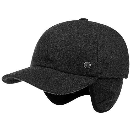 Bugatti Windstopper Gore Baseballcap Baseballkappe Windschutz Nackenschutz Wollcap Wintercap (61 cm - anthrazit)