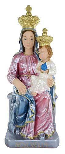 Ferrari & Arrighetti Estatua Virgen de Novi Velia en Yeso Pintada a Mano - 40 cm