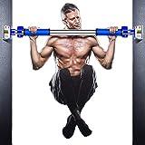 【2020年最新版】懸垂バー 鉄棒 懸垂棒 けんすいバー 筋力トレーニング 多機能 ドアジム 自宅 筋トレ ドアに鉄棒 、特許滑り止め装置 腹筋 背中トレーニング (70-105cm)