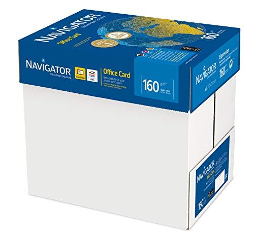 Navigator Office Card - Caja con folios de papel multifunción, 250 hojas, 5 paquetes, 160 g/m²