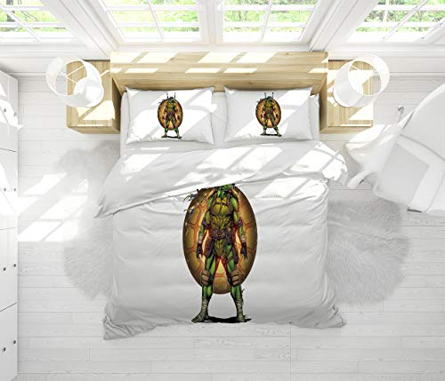 Teenage Mutant Ninja Turtles Microfiber Duvet Cover Set Full Size for Any Bed Room Or Guest Room