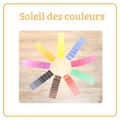 Apprendre les couleurs Montessori, soleil des couleurs