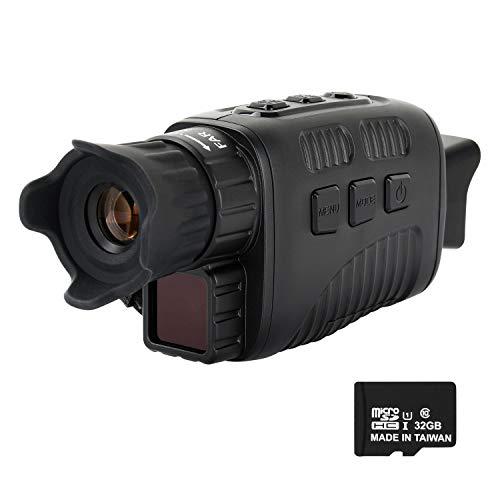 ESSLNB Nachtsichtgerät Infrarot 10X Vergrößerung mit 32GB Karte Wiedergabe Foto und Videoaufnahmefunktion bei Tag und Nacht
