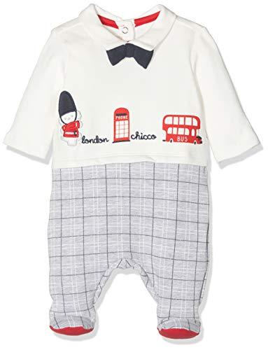 Chicco Tutina con Apertura Patello Pelele, Blanco (Naturale 030), 74 (Talla del Fabricante: 074) para Bebés