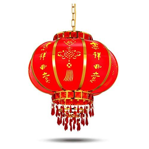 LOVELY Lanterna Cinese Rosso, LED Rosso Lanterna Lampadario, Lanterna Di Cristallo Rotante, Giorno Lanterna Festival Delle Lanterne Decorazione Della Chinese New Year (Color : Red, Dimensione : 70Cm)