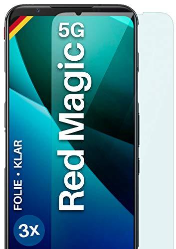 moex [3 Stück] Schutzfolie kompatibel mit nubia Red Magic 5G Bildschirmfolie Hüllen-Fre&lich, 0.2 mm dünne Bildschirmschutzfolie, Display Schutz extra Kratzfest - HD Ultra-Klar