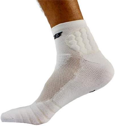 Padded Athletic Socks for Football, Baseball, Basketball + Lacrosse (White)