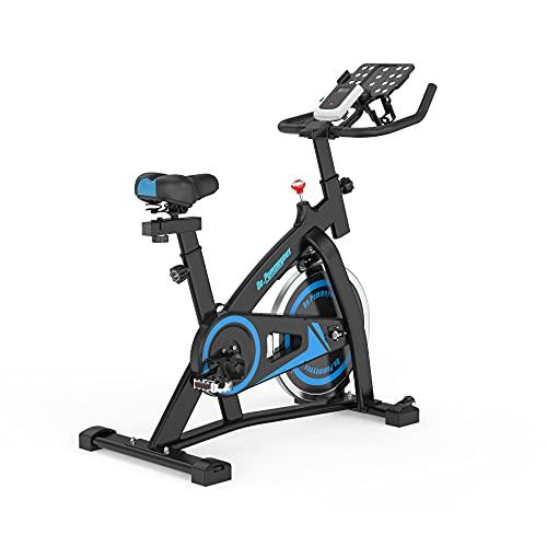 De.Pommeyeux Bicicleta estática - Bicicleta estática de entrenamiento, bicicleta de interior con pantalla LCD para entrenamiento en casa