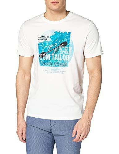 TOM TAILOR Herren 1025426 Print T-Shirt,...