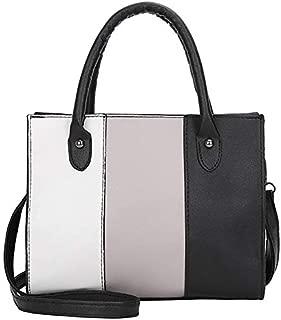 TOOGOO Women'S Handbag Casual Bag Messenger Bag Hit Color Leather Handbag Shoulder Bag Pink