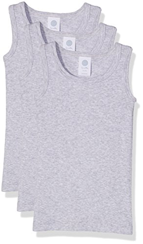 Sanetta 333735 Camiseta de Tirantes, Gris (Hellgrau Melange 1646), 116 cm (Pack de 3) para Niños