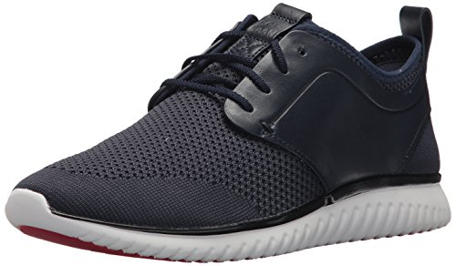 Cole Haan Men's Grand Motion Knit Sneaker, Marine Blue/Black/Optic White, 12 Medium US