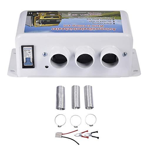Pegtopone - Calefacción portátil para coche, 12 V, universal, para coche, camión, ventilador de parabrisas, descongelador, descongelador, calefactor compacto