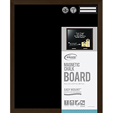 Board Dudes Magnetic Chalk Board Wood Style Frame 22x18