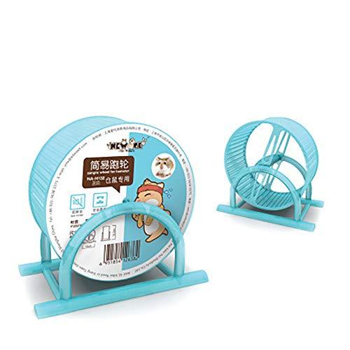 1PC Laufrad Hamster Hamster Spielzeug Hamster Zubehör Hamster Rad Pet Comfort Tretmühle Laufräder Quiet Hamster Laufrad Stille Spinner groß und leicht anbringen to Wire Cage für Kleintiere (blau)