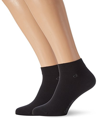 Calvin Klein Herren 2er Pack Sneakersocken, BLACK, 39-42