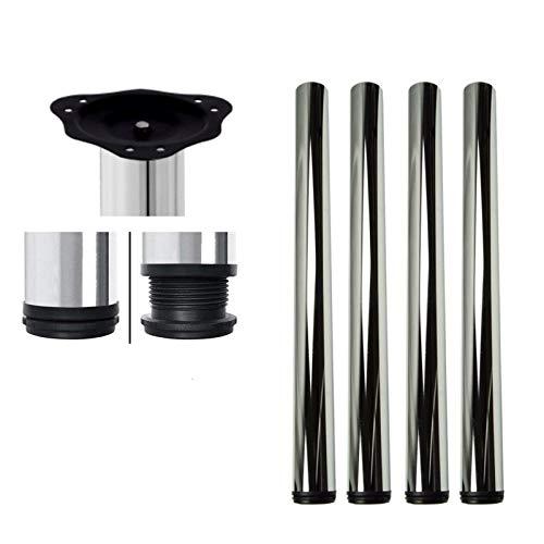 Juego de 4 barras ajustables para encimera. Patas de mesa de cocina 710 mm, 820 mm, 870 mm y 1100 mm con tornillos y placa de montaje