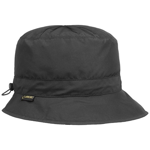 Seeberger Seeberger Gore-Tex Outdoorhut Regenhut Hut Fischerhut Anglerhut mit Fleecefutter UV-Schutz Stoffhut (56 cm - schwarz)