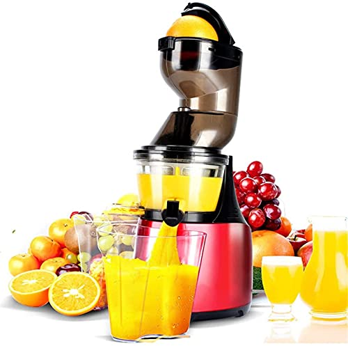 Slow Juicer, Slow Juicer Masticating Juicer- Wide Mouth Juicers Cold Pressed Fruits & Vegetables Quiet Anti-Oxidation Higher Nutrients And Vitamins BPA Free,Red,Juicer Machines Vegetable and Fruit