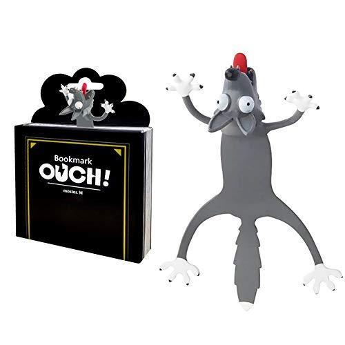 3D Cartoon Tier-Lesezeichen,bookmark animal,lesezeichen kinder,lesezeichen magnetisch,3D Stereo Cartoon schön Tier Lesezeichen Geschenk für Kinder und Erwachsene (L)