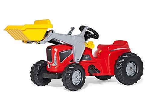 Rolly Toys ROLLY630059 - Trattore Kiddy Futura con ruspa, Colore: Rosso