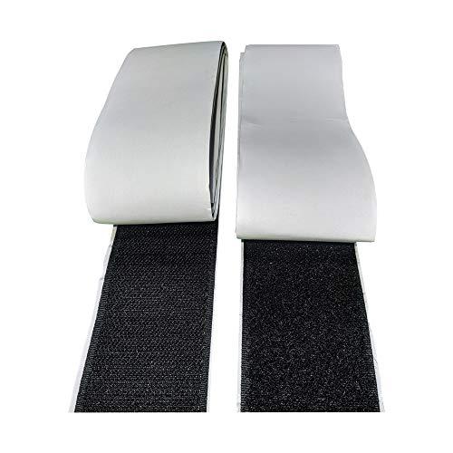 Fita Auto Adesiva com material Macho + Fêmea Fixação De Pedais - 1 Metro (50mm, PRETO)