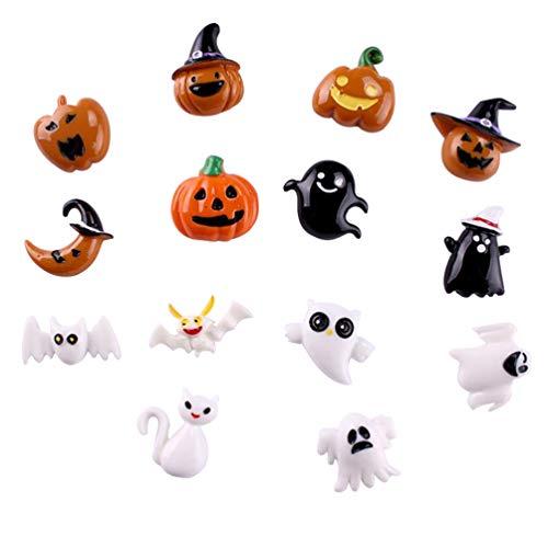 Yardwe - Imanes para decoración de Halloween (14 unidades), diseño de calabaza y murciélago, decoración del hogar, Halloween