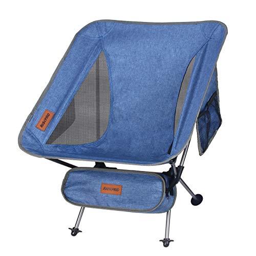 RISEPRO Denim Camping Chair Ultraleichte tragbare Klappstühle mit Tragetasche Heavy 145 KGS Kapazität Klappstuhl Camping Klappstühle Beach