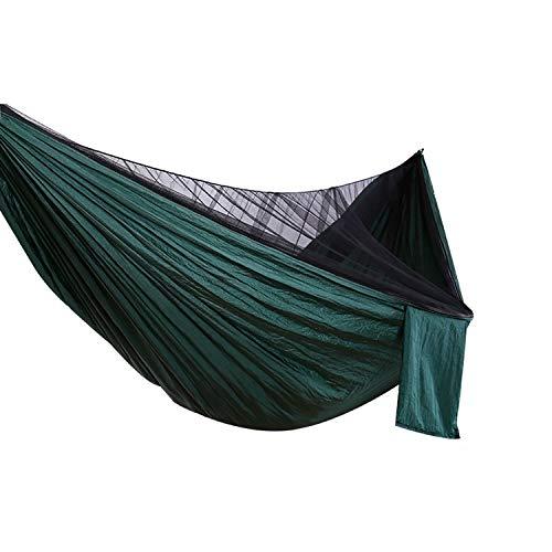 Tuzi Qoge Nylon-TAFT Hammock Sizing 2,6 X 1,4 m, beweglicher Strand Schaukel Bett mit Moskitonetz QiuGe