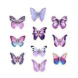 10pcs en trois dimensions pince à cheveux papillon tissu épingle à cheveux épingle à cheveux pour enfants filles (violet,...