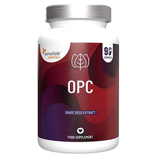 OPC Traubenkernextrakt 430mg | 90 Vegan Kapseln hochdosiert | eine 82-mal bessere Aufnahmefähigkeit | reich an Polyphenolen sowie oligomeren Proanthocyanidinen | ausreichend für 3 Monate