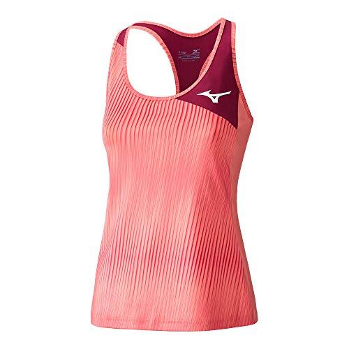 Mizuno Amplify - Camiseta de Tirantes para Mujer, Color Rosa, Talla L