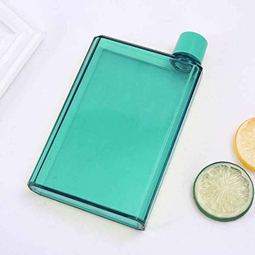 Botella de agua portátil y elegante, reutilizable, sin BPA, a prueba de fugas, para deportes al aire libre, viajes, fitness, gimnasio, 350 ml (verde)