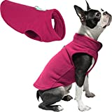Gooby Dog Fleece Vest - Fuchsia, X-Large - Pullover Dog Jacket with Leash Ring - Winter Small Dog Sweater - Warm Dog Clothes for Small Dogs Girl or Boy for Indoor and Outdoor Use