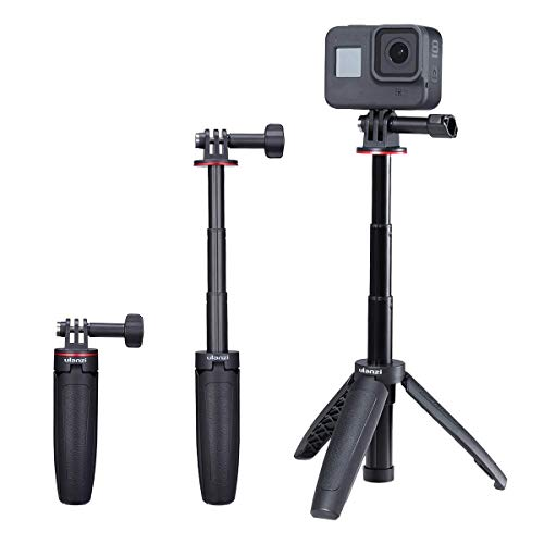 Ulanzi MT-09 Extension Pole Tripod, Mini Selfie Stick Tripod Stand Handle Grip for GoPro 8 7 6 5 4 Max DJI OSMO Action Insta360 One X SJCAM Vlogging