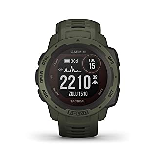 Garmin Instinct Solar Tactical, Solar-powered Rugged Outdoor Smartwatch with Tactical Features, Built-in Sports Apps and Health Monitoring, Moss Green (B089NZLJRZ) | Amazon price tracker / tracking, Amazon price history charts, Amazon price watches, Amazon price drop alerts