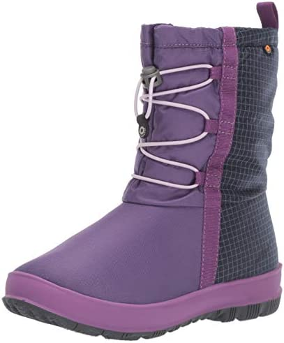 BOGS Snownights Insulated Winter Waterproof Boys and Girls Snow Boot Purple Multi 4 US Unisex product image
