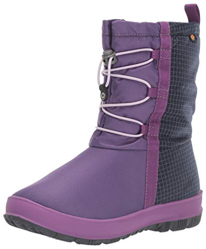 Bogs Kids Snownights Insulated Winter Waterproof Boys and Girls Snow Boot, Purple Multi, 8 US Unisex Toddler