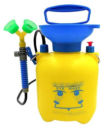 Estación Lavaojos portátil de pequeño tamaño de emergencia, Caja ojos Aclarar el rociador con doble boquilla y la válvula de alivio de presión Escuela Laboratorio de Química fácil de usar, Pul