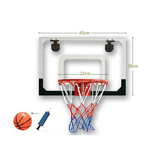Nostalgie Estándar Baloncesto para niños Soporte de Baloncesto Transparente Colgando Baloncesto Tablero Fácil de Colgar Baloncesto Interior Hoop Exterior Canasta Reemplazo (Color : White)