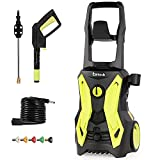 Birtech 3500 PSI Power Washers Electric Powered , 2.8GPM Pressure Washers 2000W High Pressure Washer with 5 Adjustable Spray Nozzle Foam Cannon for for Driveways, Patios Washing Vehicles, Child Lock